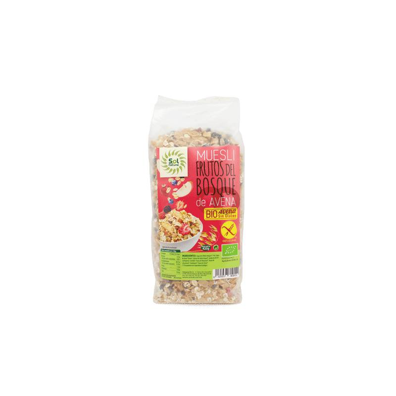 Sol Natural Muesli Avoine Bio Fruits Des Bois Sans Gluten - 425 Gr - Sol Natural