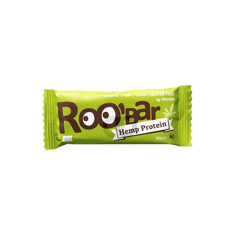 Roo'bar Barre Roo'bar Protéine De Chanvre Bio Vegan Sans Gluten  - 30g - Roo'bar