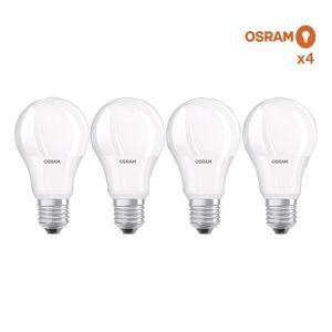 Osram Pack éco de 4 ampoules LED Osram E27 8,5W verre opaque Blanc Chaud - Ampoules LED E27