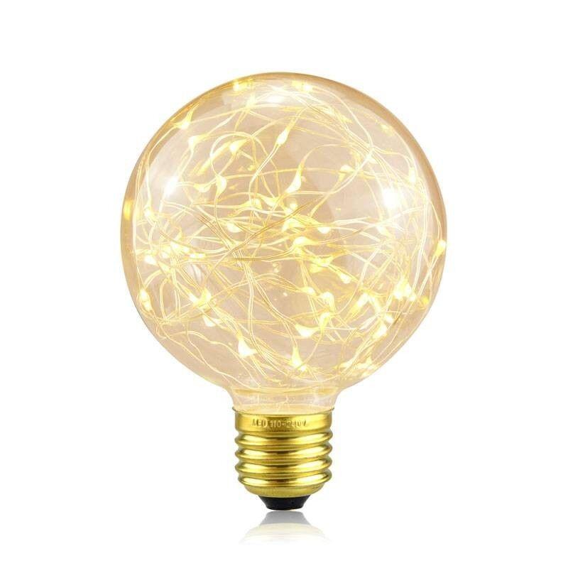 "Barcelona LED Ampoule LED E27 2W G125 ""Fairy Bulb"" Blanc Extra Chaud"