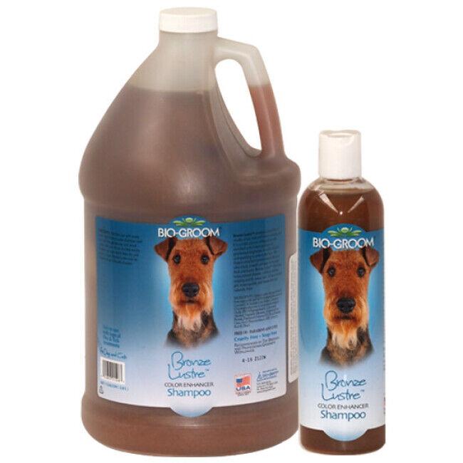 Bio Groom Shampoing Bio Groom colorant Bronze lustré pour poil chien et chat 355 ml