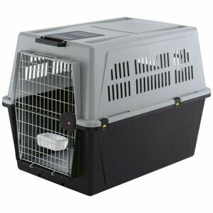Ferplast Cage de transport pour chien et chat Atlas 70 automobile et avion T5 Gris - Publicité