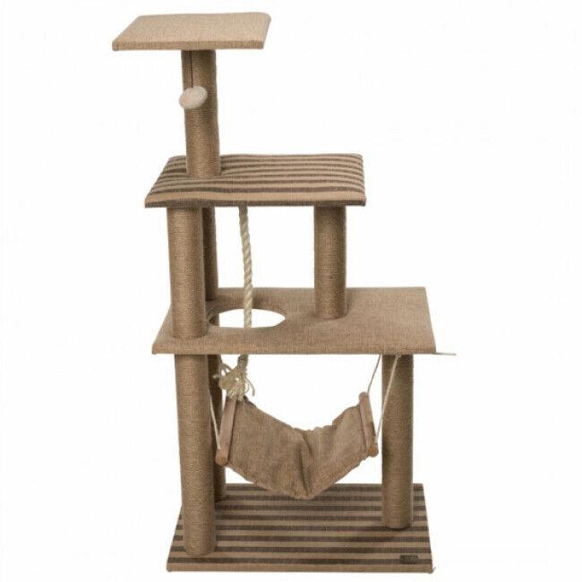 EBI Arbre à chat 3 étages avec hamac et jeux Elm - hauteur 118,5 cm