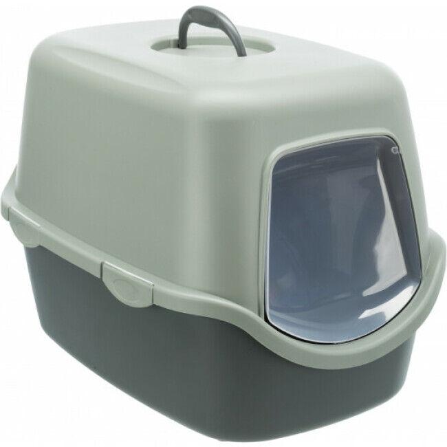 Trixie Bac à litière avec couvercle en plastique recyclé Vico Trixie