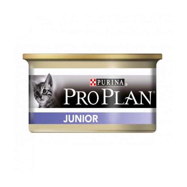 Proplan Boîte de pâtée pour chat Junior Pro Plan 24 boîtes de 85 g