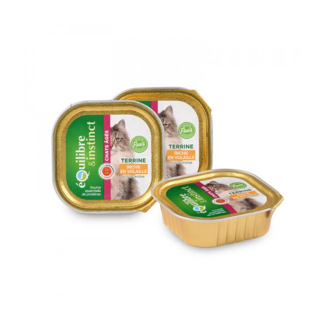 Equilibre & Instinct Boîte pour chat Equilibre et Instinct senior 16 Barquettes de 100 g volaille et carottes