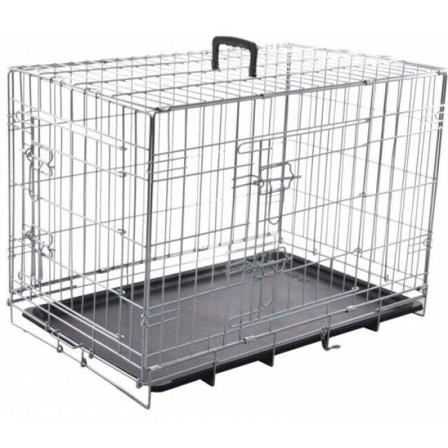 Flamingo Cage de transport métallique pour chien Taille M 93 cm x l 57 cm x H 62 cm