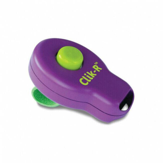 """Trixie Clicker """"Clik-R"""" avec doigtier 1 son Soft pour dressage chien"""