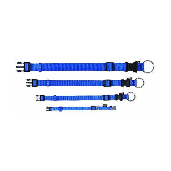 Trixie Collier Trixie Premium en nylon bleu Taille M-L Largeur 20 mm Longueur 35/55 cm