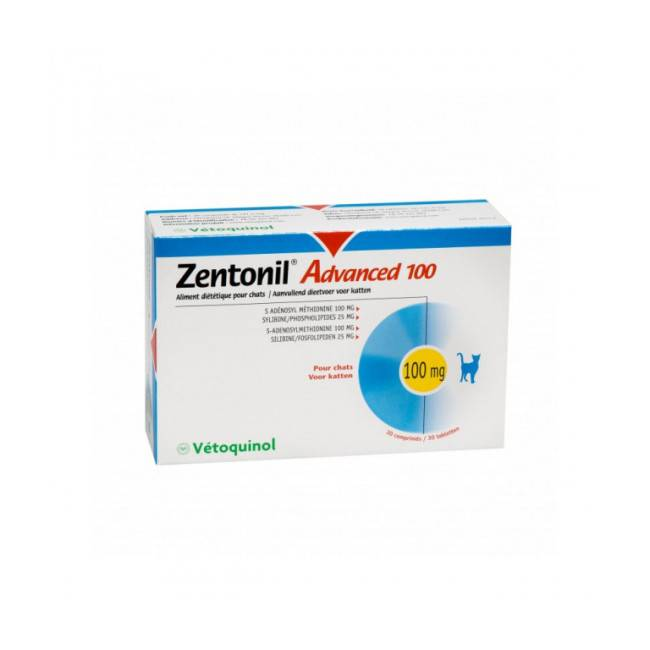 Zentonil Complément alimentaire Advanced pour troubles hépatiques du chat et chien Zentonil