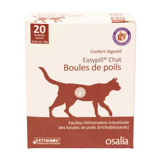 Osalia Complément alimentaire confort digestif pour chat Easypill Boules de Poils