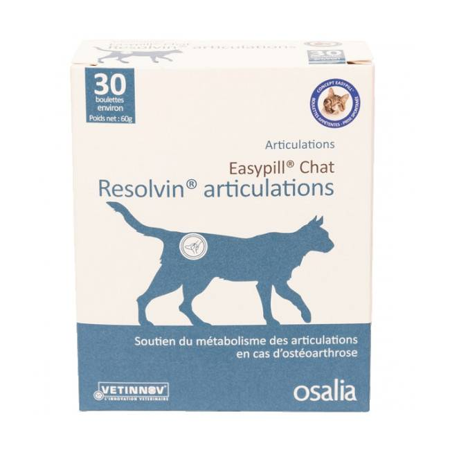 Osalia Complément alimentaire pour chat Easypill resolvin articulations