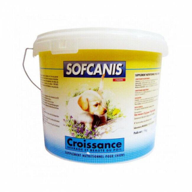 Sofcanis Complément alimentaire pour chien en poudre Sofcanis croissance seau 5 kg