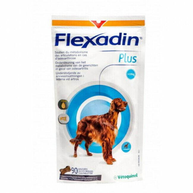 Vétoquinol Complément alimentaire Flexadin Plus Maxi articulations pour chien + 10 kg 90 bouchées