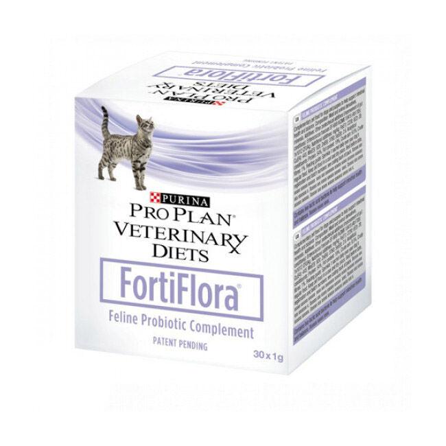 Purina Complément alimentaire Fortiflora Probiotic Souche SF68 pour la flore intestinale du chat