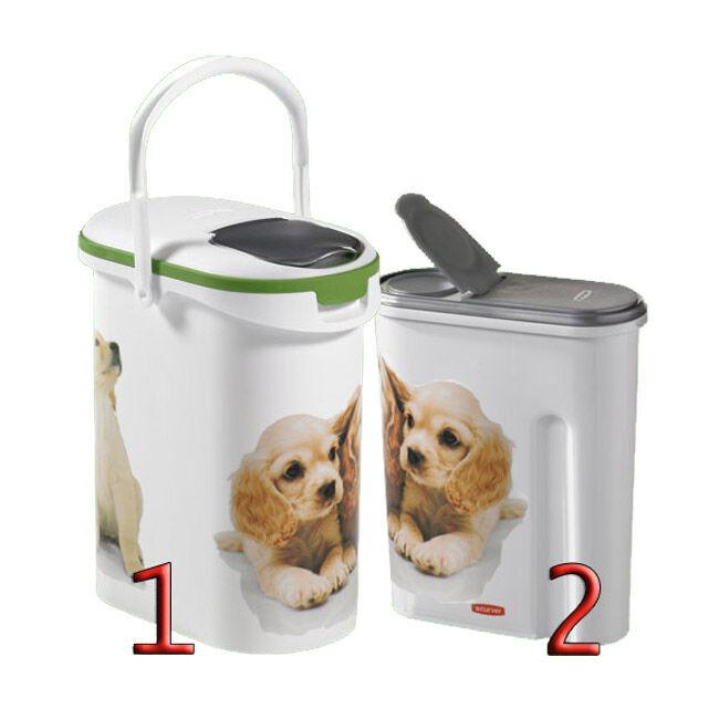 Curver Container verseuse à croquettes décor chien Petlife 10 Litres