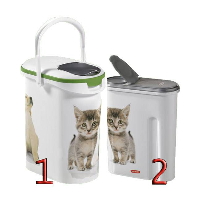 Curver Container verseuse croquette décor chat Petlife - 10 L