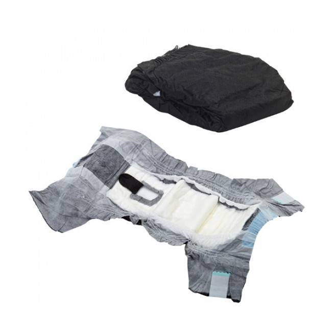 Savic Couche culotte noire Comfort Nappy jetable pour incontinence du chien T2 paquet de 12 couches