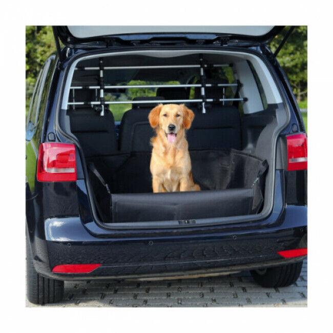 Trixie Couverture noire de protection pour coffre de voiture Friends on tour pour chiens Taille L