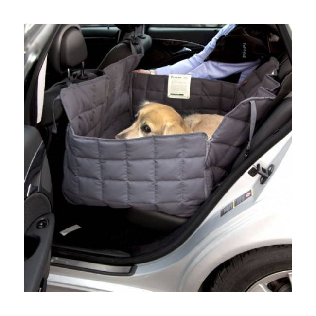 Doctor Bark Couverture pour chien protection voiture 2 places Doctor Bark grise Taille S