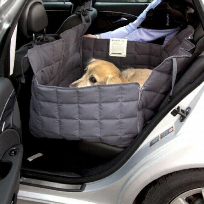 Doctor Bark Couverture pour chien protection voiture 2 places Doctor Bark grise Taille M