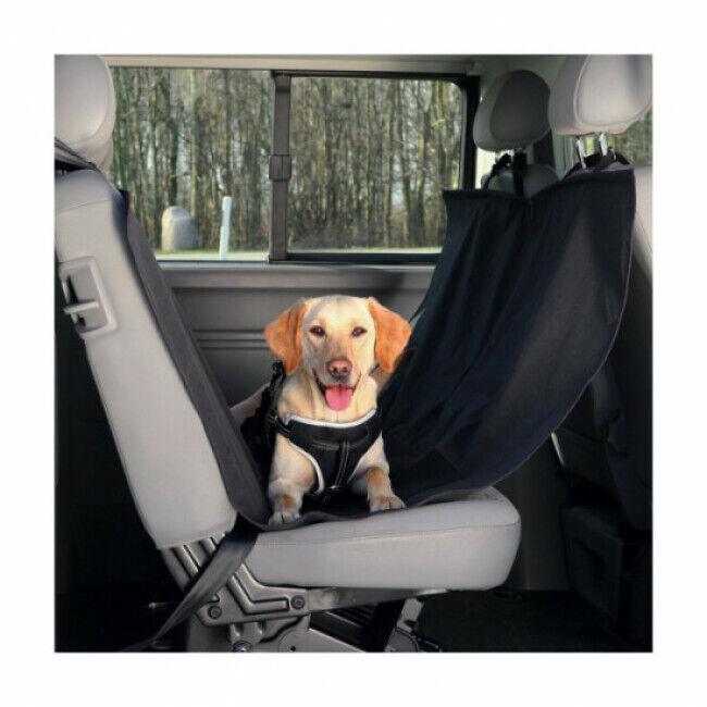 Trixie Couverture pour chien siège de voiture en nylon noir Friends On Tour