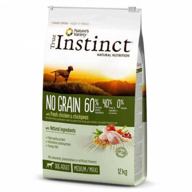 True instinct Croquettes True Instinct No Grain Medium Maxi Adult Poulet sac 12 kg