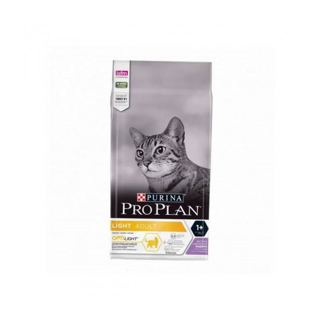 Proplan Croquettes allégées pour chat adulte Pro Plan dinde et riz sac 1,5 kg