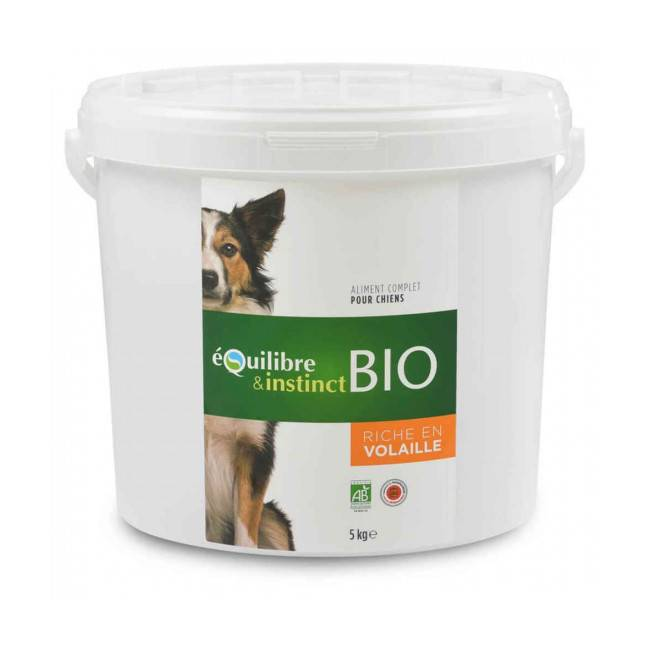Equilibre & Instinct Croquettes BIO Equilibre & Instinct goût volaille pour chien - Seau 5 kg