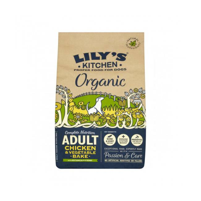 Lily's Kitchen Croquettes bio Lily's Kitchen au poulet et légumes pour chien - Sac 7 kg
