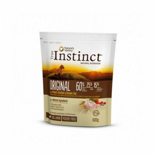 True instinct Croquettes chiot True Instinct Original Medium et Maxi Junior sac 600 g (DLUO 6 mois)