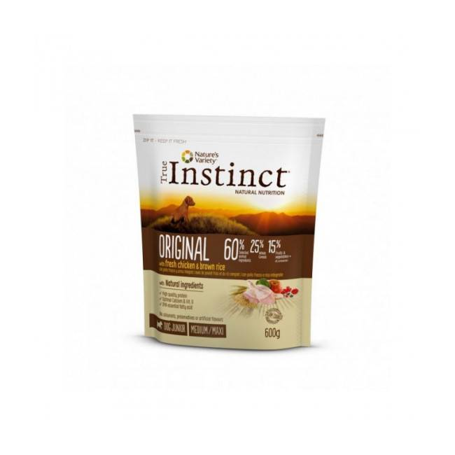 True instinct Croquettes chiot True Instinct Original Medium et Maxi Junior sac 600 g (DLUO 6 mois) (DLUO 6 mois) (DLUO 6 mois) (DLUO 6 mois)