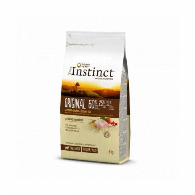 True instinct Croquettes chiot True Instinct Original Medium et Maxi Junior sac 2 kg