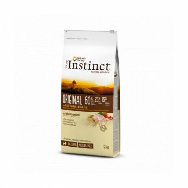 True instinct Croquettes chiot True Instinct Original Medium et Maxi Junior sac 12 kg
