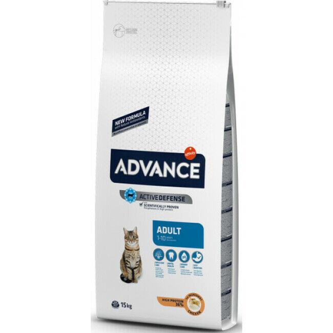 Advance Croquettes pour chat Adulte Advance Poulet et Riz Sac 1,5 kg