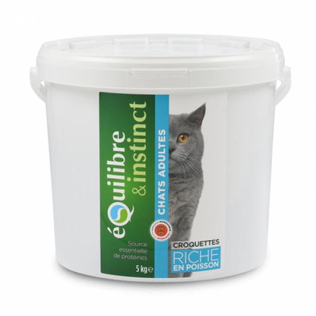 Equilibre & Instinct Croquettes pour chat Adulte Equilibre & Instinct poisson frais - Seau 5 kg