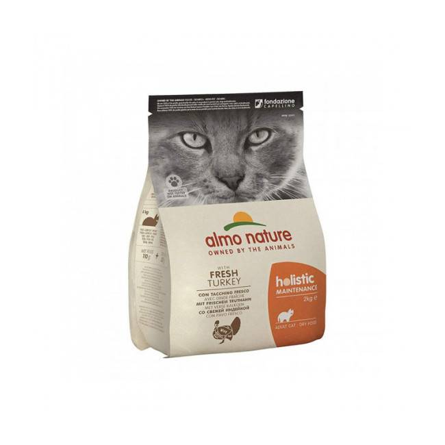 Almo Nature Croquettes pour chat Almo Nature Holistic à la dinde et au riz Sac 2 kg