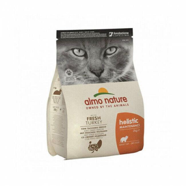 Almo Nature Croquettes pour chat Almo Nature Holistic à la dinde et au riz Sac 12 kg