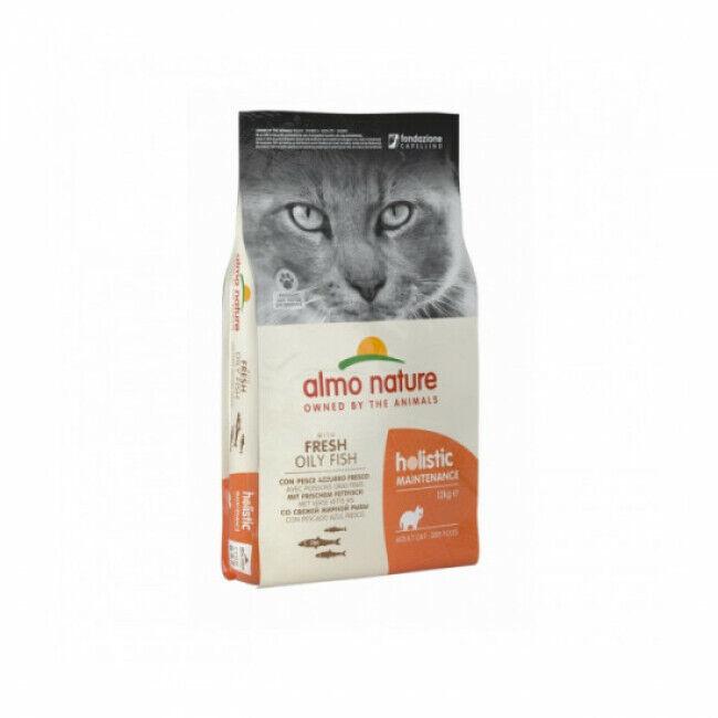 Almo Nature Croquettes pour chat Almo Nature poisson blanc et riz Holistic Sac 12 kg