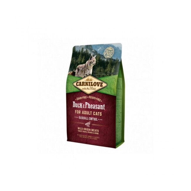 Carnilove Croquettes pour chat spéciales boules de poil Carnilove Canard & Faisan Sac 6 kg