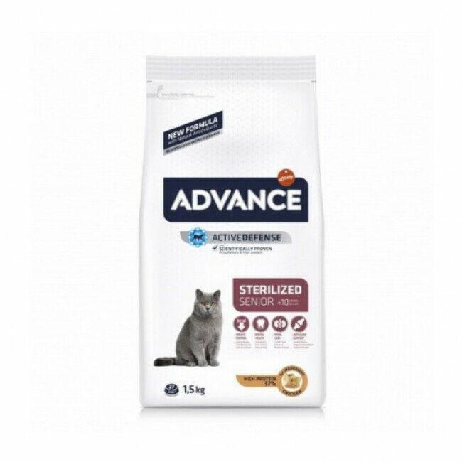 Advance Croquettes pour chat Sterilised Advance +10 ans Sac 1,5 kg