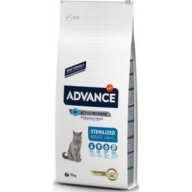 Advance Croquettes pour chat Sterilised Advance Dinde Sac 15 kg