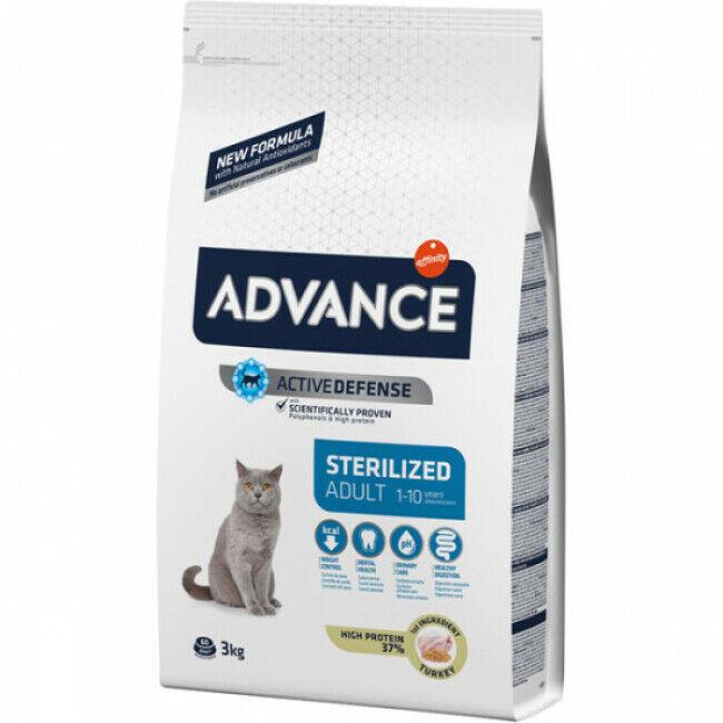 Advance Croquettes pour chat Sterilised Advance Dinde Sac 3 kg