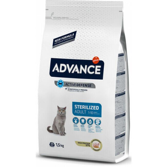 Advance Croquettes pour chat Sterilised Advance Dinde Sac 1,5 kg