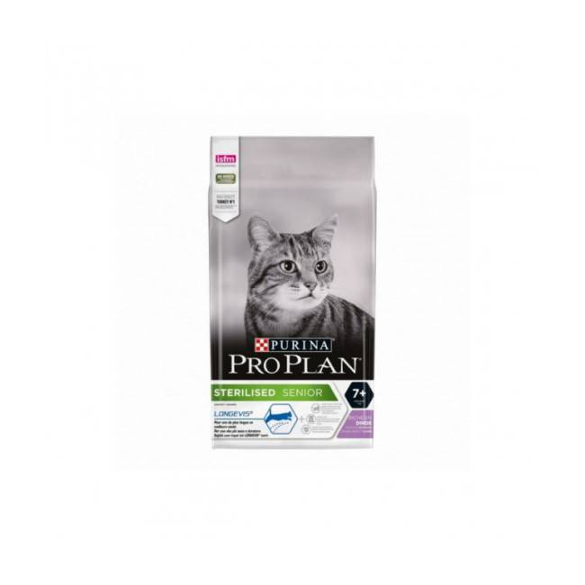 Proplan Croquettes pour chat stérilisé Pro Plan Sterilised adulte 7+ dinde sac 3 kg