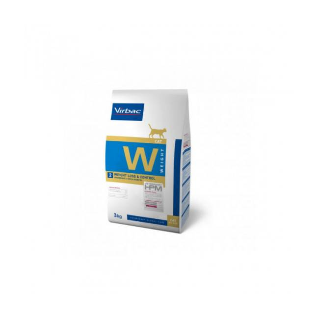 Virbac Croquettes pour chat Weight Loss & Control W2 HPM Virbac Sac 3 kg