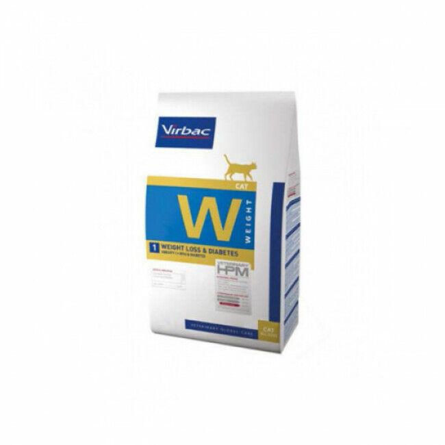 Virbac Croquettes pour chat Weight Loss & Diabetes HPM Virbac 1,5 kg