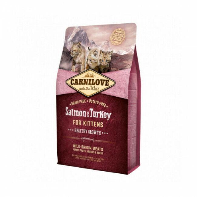 Carnilove Croquettes pour chaton Carnilove healthy growth Saumon & Dinde Sac 2 kg