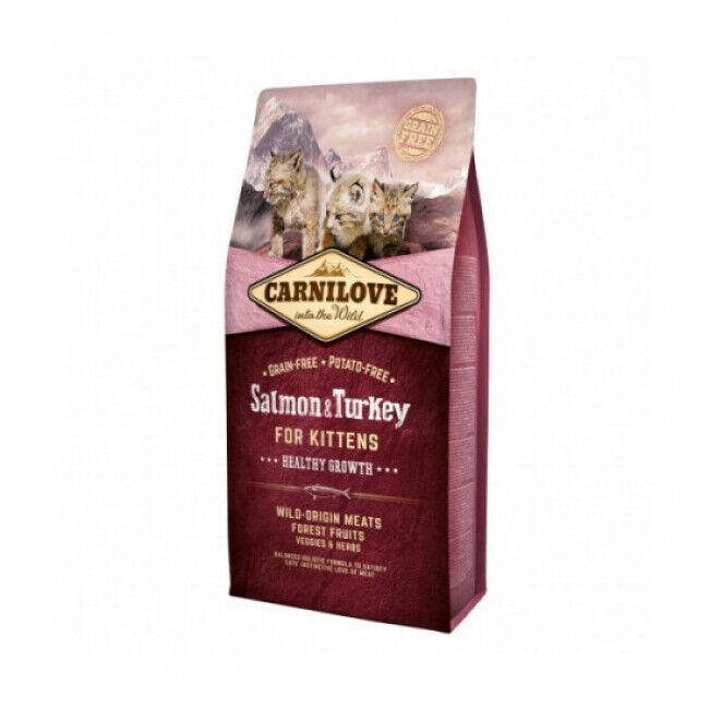 Carnilove Croquettes pour chaton Carnilove healthy growth Saumon & Dinde Sac 6 kg