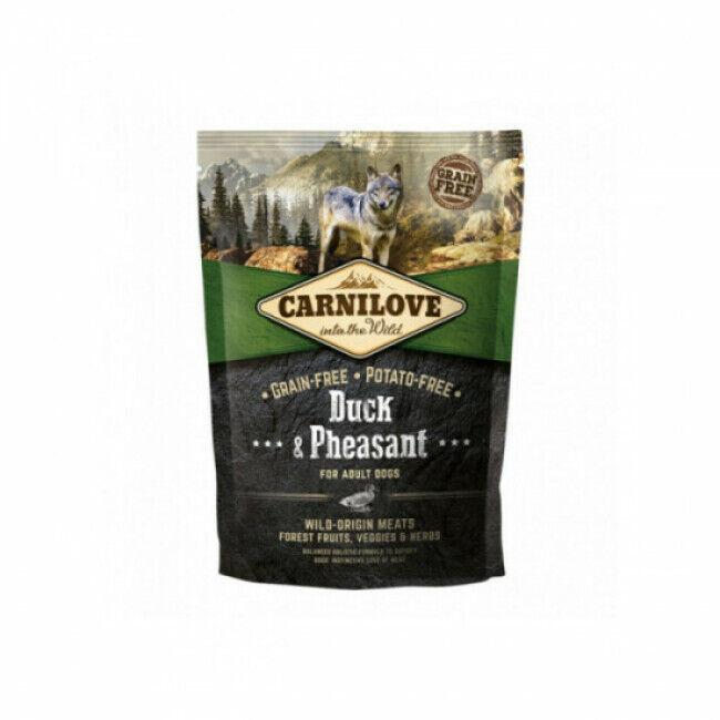 Carnilove Croquettes pour chien adulte Carnilove canard & faisan Sac 1,5 kg